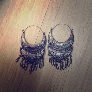 Lucky brand silver dangle earrings